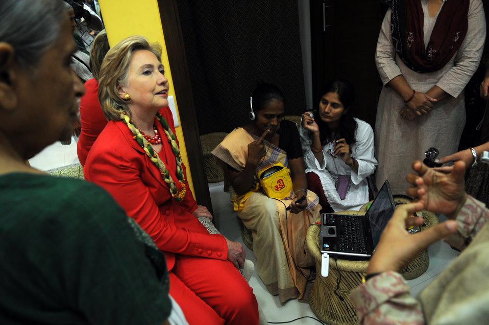 Secretary Clinton Uses VOIP To Exchange Greetings With 1000 Rural Women