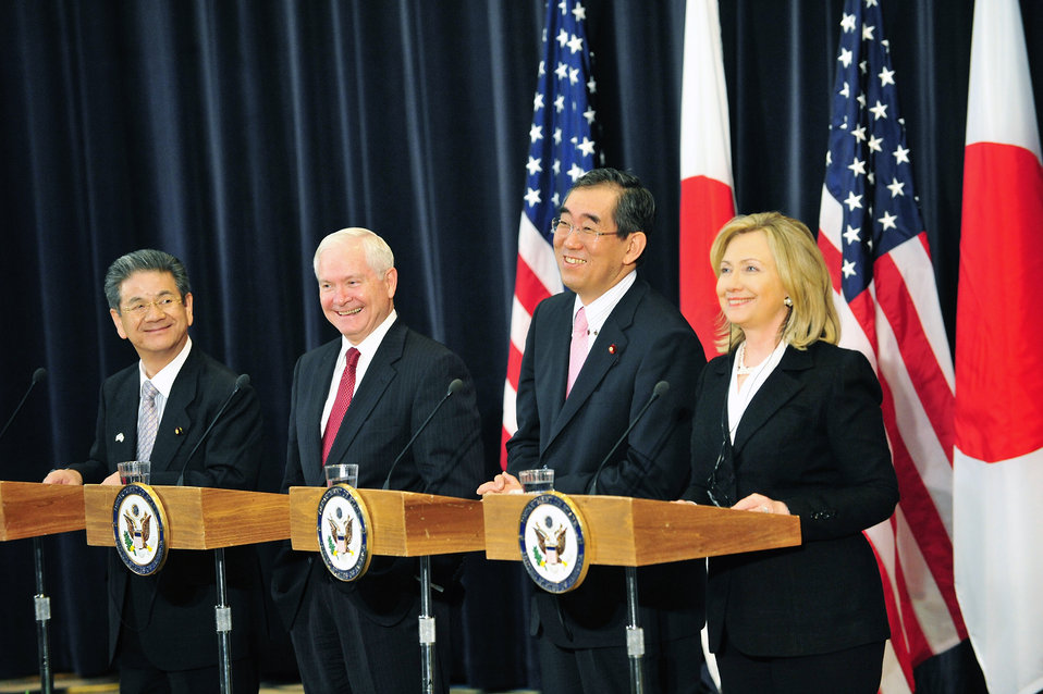 Secretary Clinton, Japanese Foreign Minister Matsumoto, Secretary Gates, and Japanese Defense Minister Kitazawa Hold a Joint Press Conference