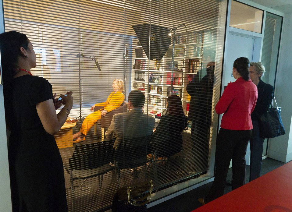 Behind the Scenes: Secretary Clinton With Andy and Hamish