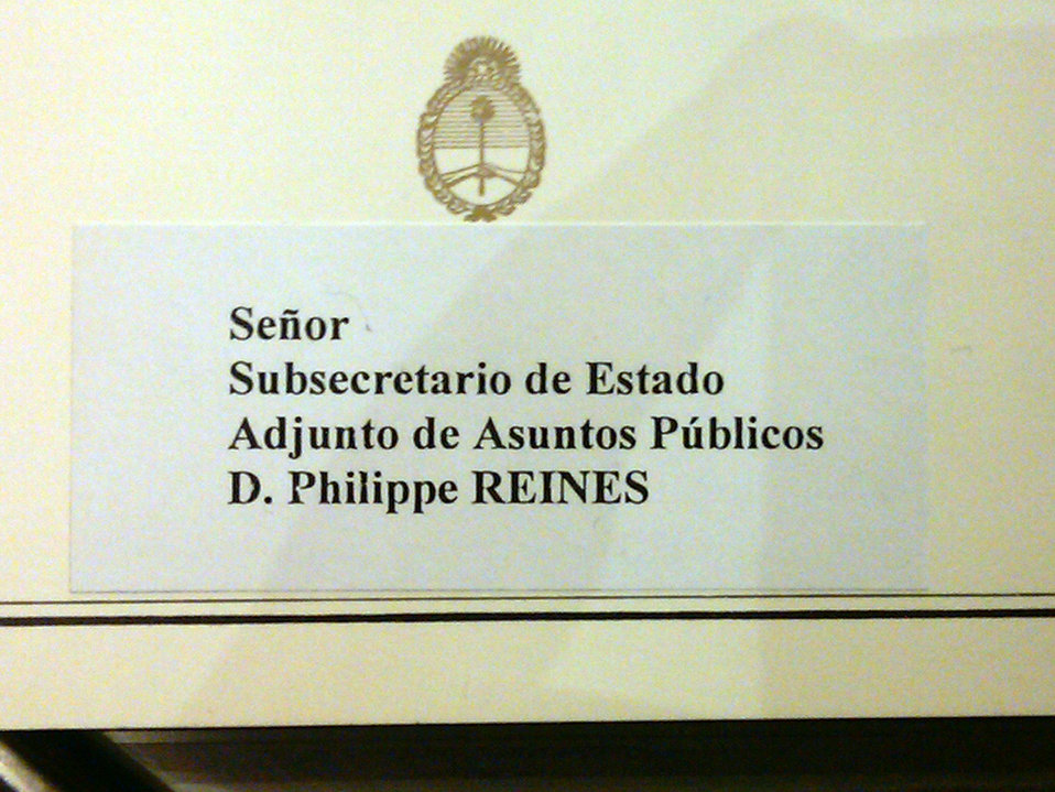 Place Card for Philippe Reines