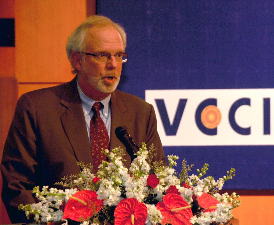 U.S. Ambassador David Shear speaks at Disabilities Program Launch