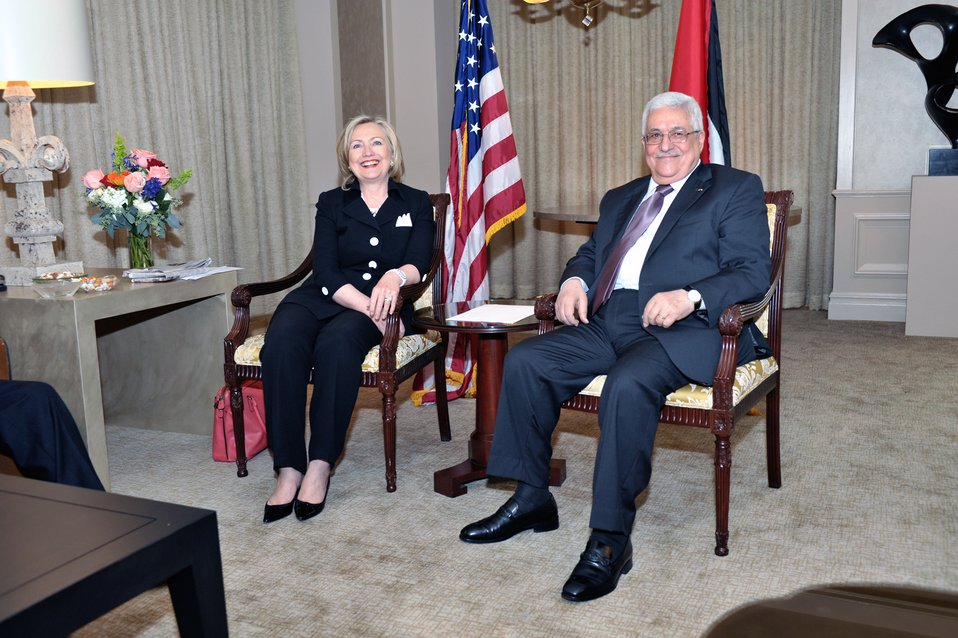 Secretary Clinton Holds a Bilateral Meeting With Palestinian Authority President Abbas