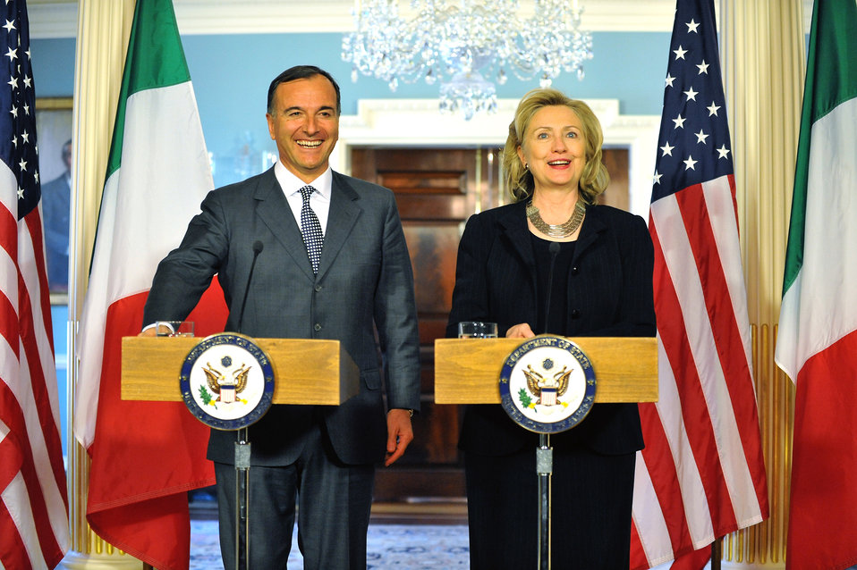 Secretary Clinton and Italian Foreign Minister Frattini Hold a Joint Press Conference