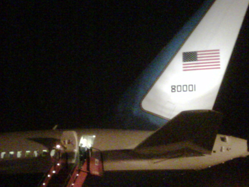 Secretary Clinton's Plane Before Departing for Costa Rica
