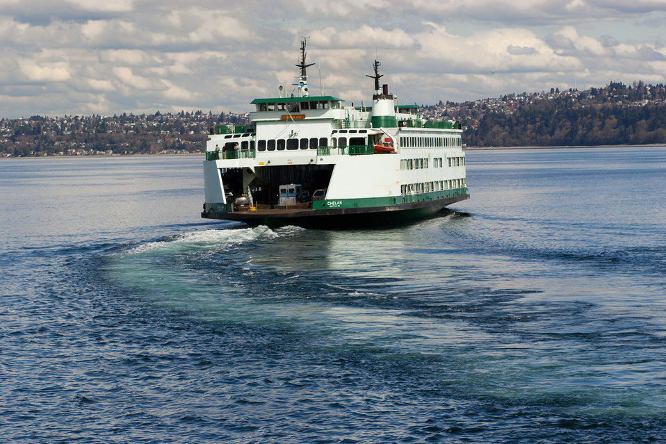 Catching the ferry from Vashon Island