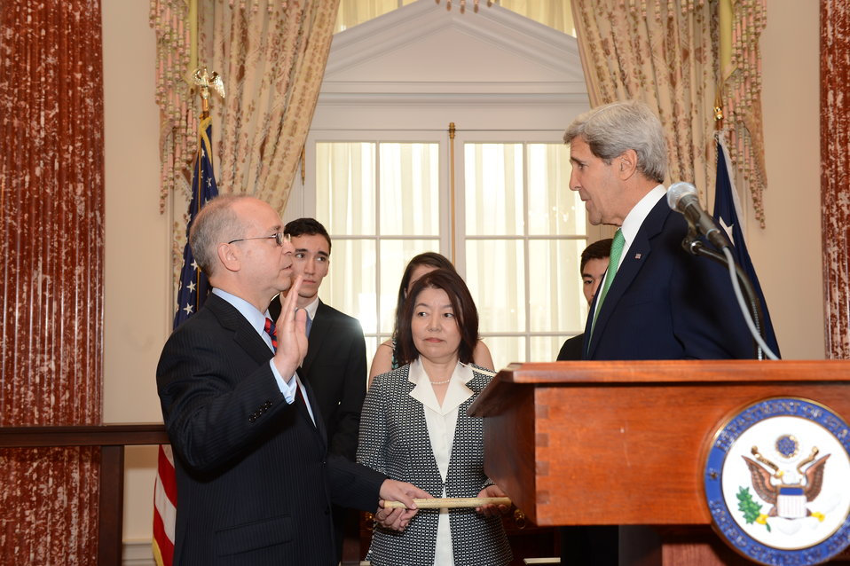 Secretary Kerry Hosts a Swearing-In Ceremony for Assistant Secretary Russel