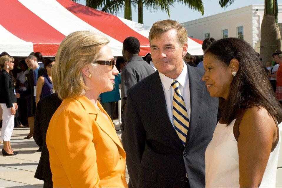Secretary Clinton Meets With Chargé d'Affaires Dr. Brent and Saskia Hardt