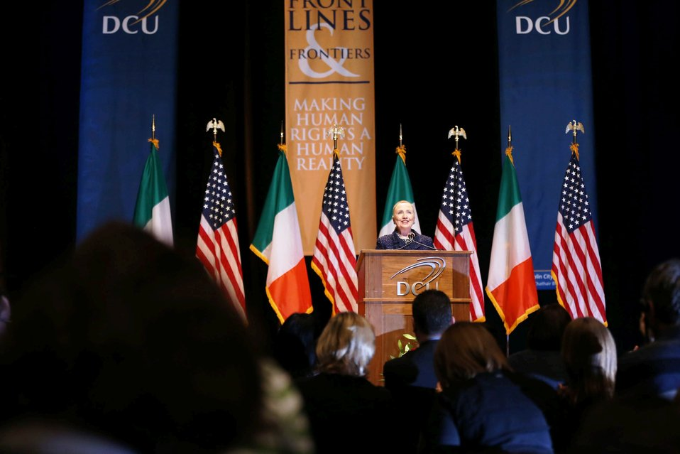 Secretary Clinton Delivers Remarks on Frontlines and Frontiers: Making Human Rights a Human Reality