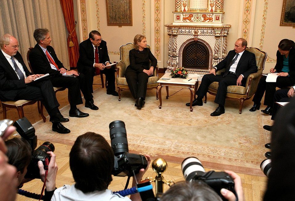 Secretary Clinton Meets With Russian President Putin