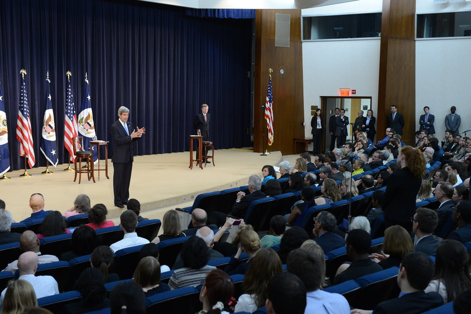 Secretary Kerry Responds to a State Department Employee's Question