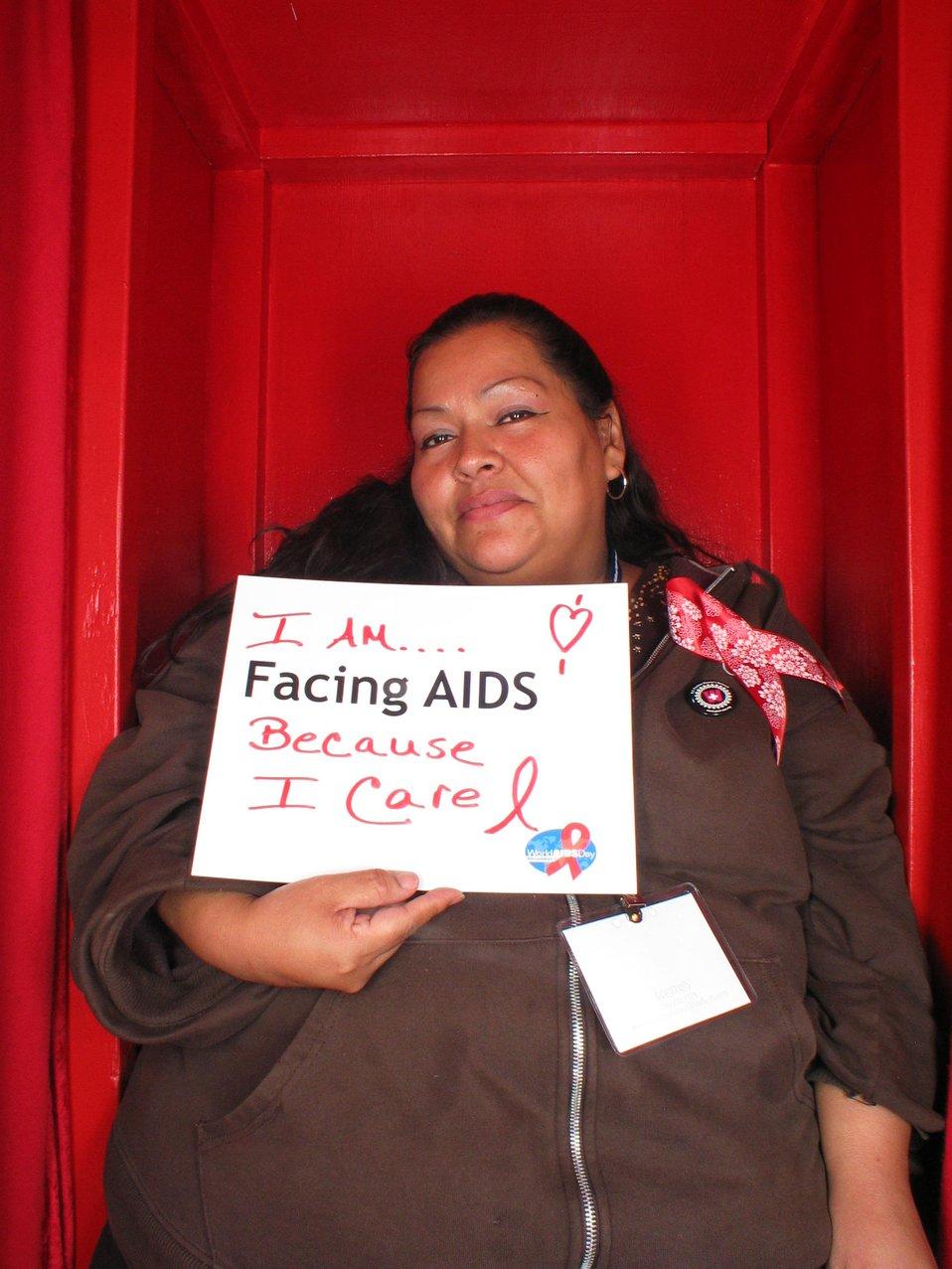 I am Facing AIDS because I care.
