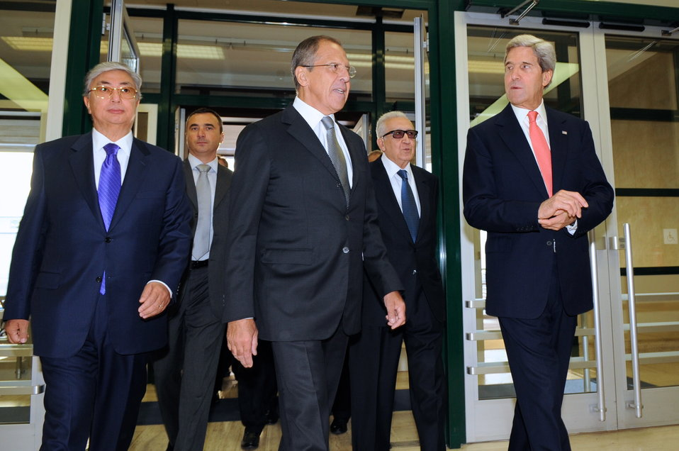 Secretary Kerry, Russian Foreign Minister Lavrov Meet with UN Special Envoy Brahimi