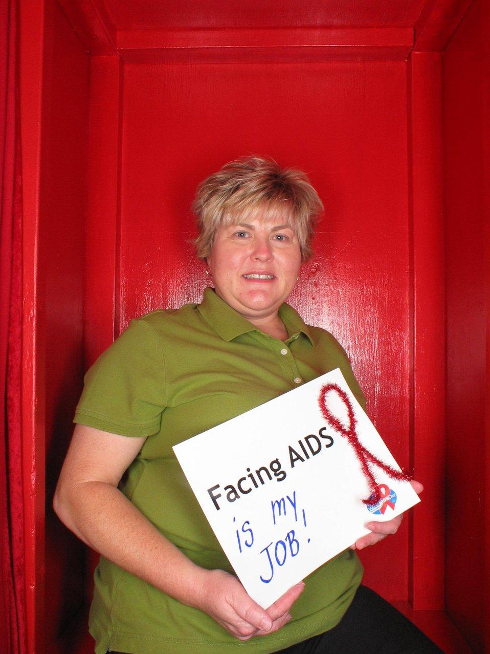Facing AIDS is my job!