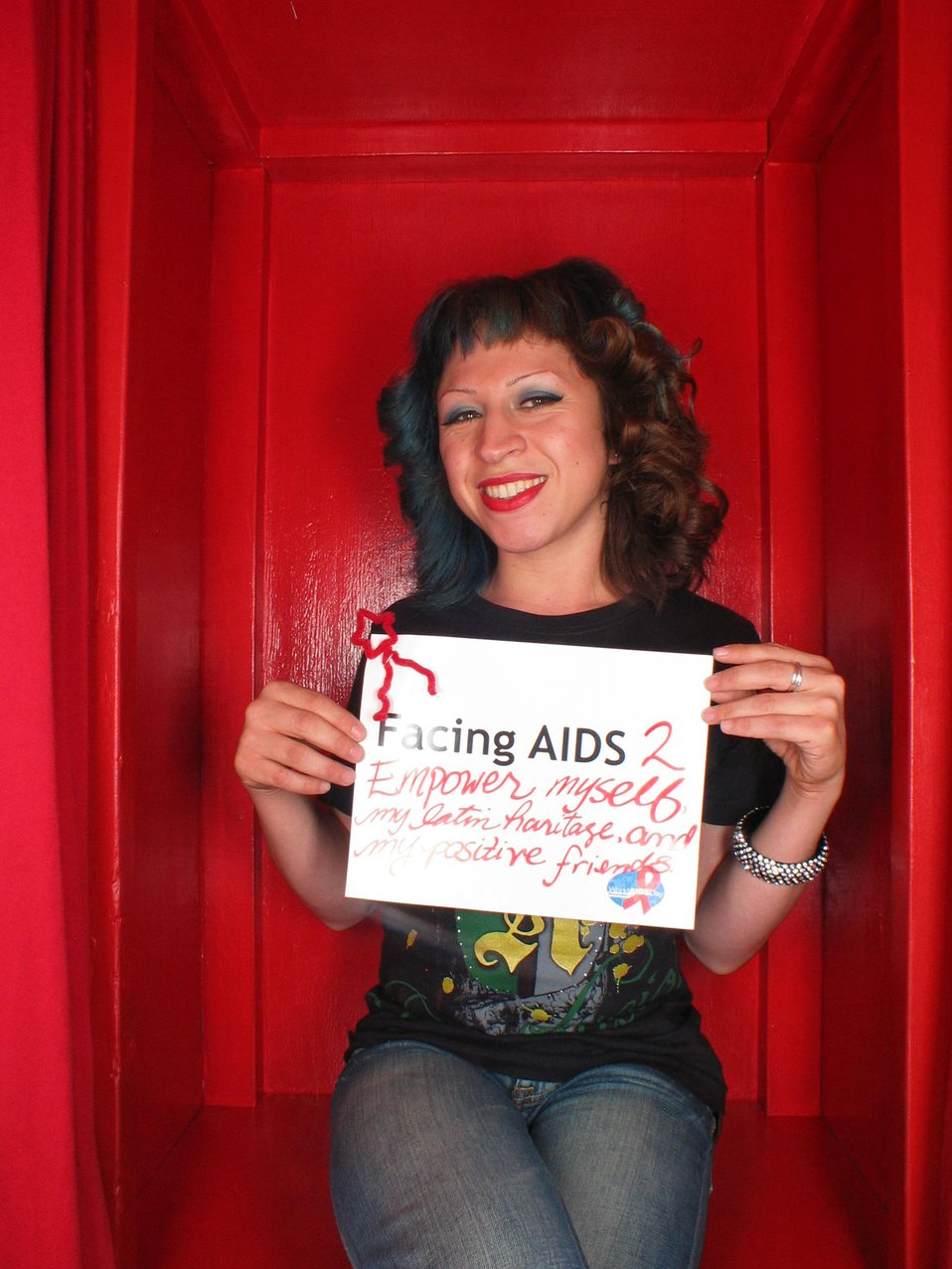 Facing AIDS 2 empower myself, my latin heritage and my positive friends.