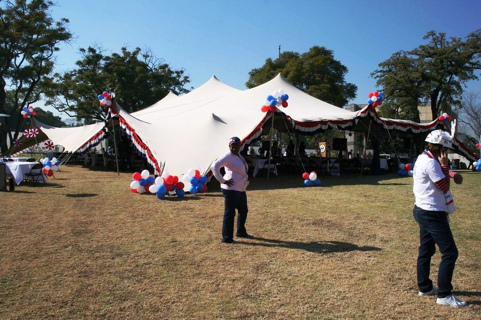 U.S. Embassy Pretoria Staff Prepare for Team USA Pep Rally