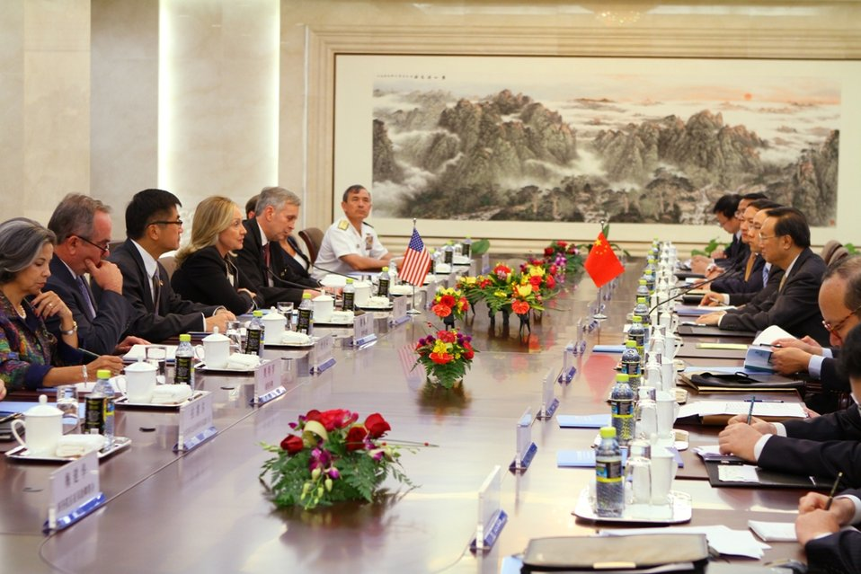 Secretary Clinton Meets With Chinese Foreign Minister Yang Jiechi