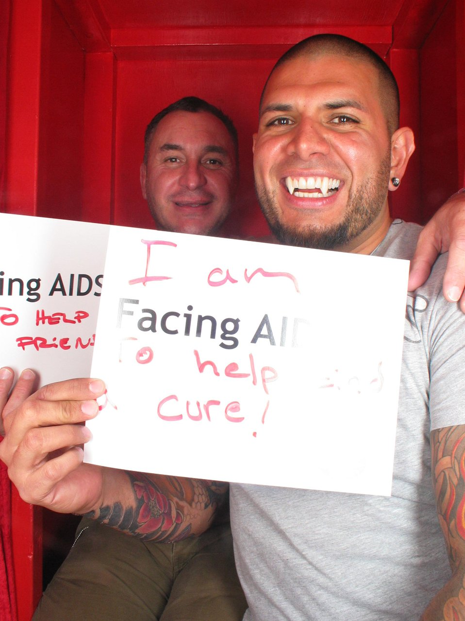 I am Facing AIDS  to help find a cure!