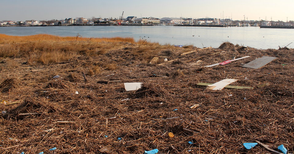 December 3, 2012 – Debris line across the way from Point Lookout, Lido Beach, NY