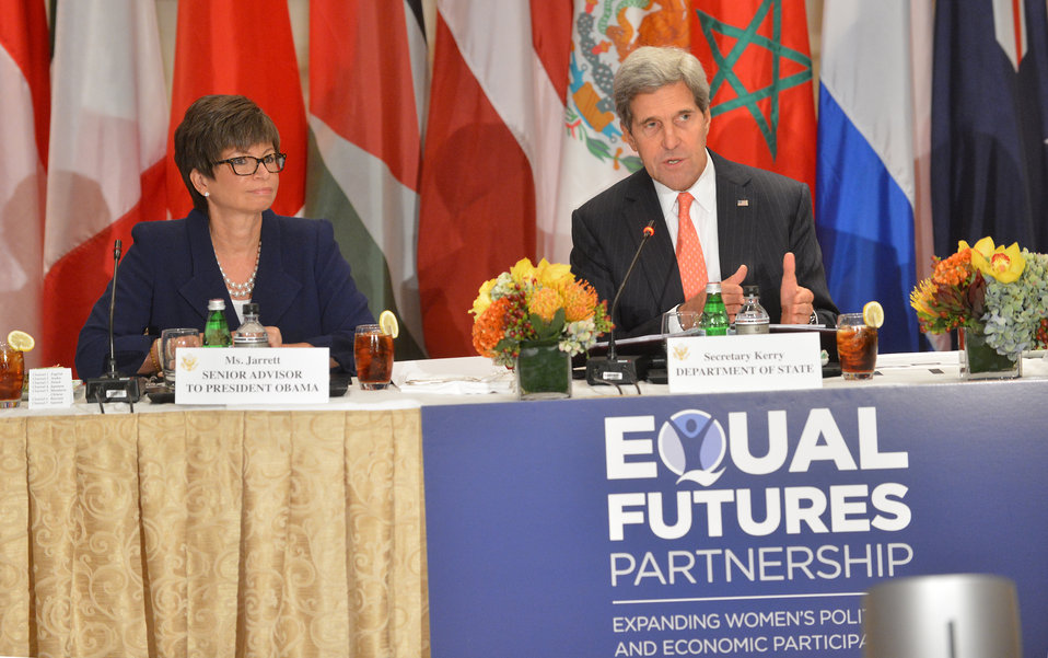 Secretary Kerry Participates in a Meeting of the Equal Futures Partnership