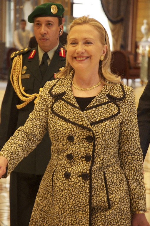 Secretary Clinton Enters the Palace