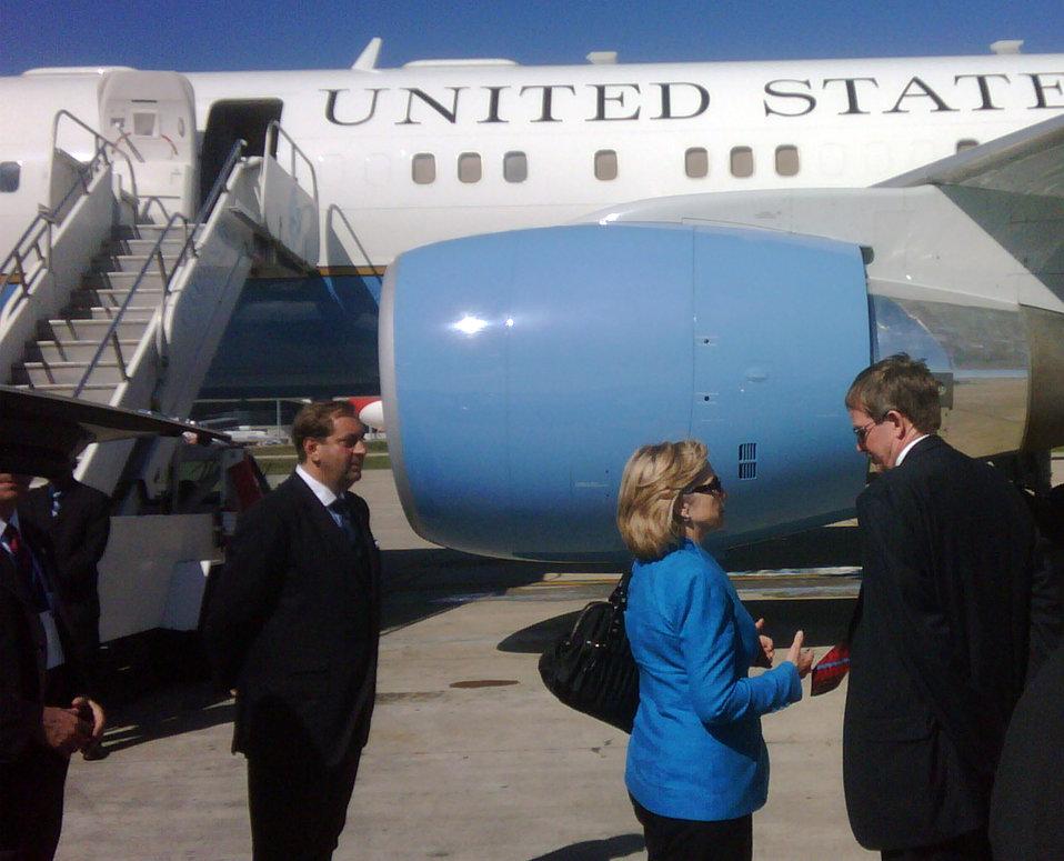 Secretary Clinton Departs Uruguay
