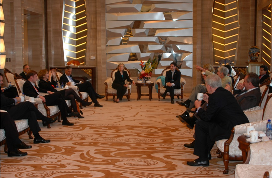 Secretary Clinton Meets With U.S. Officials