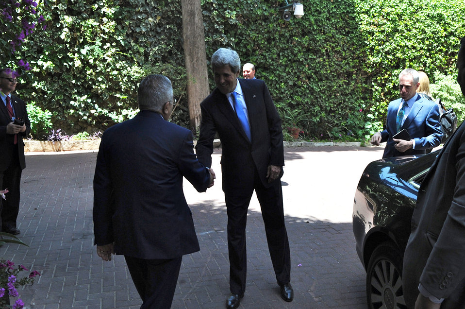 Secretary Kerry Greets Palestinian Authority Prime Minister Fayyad