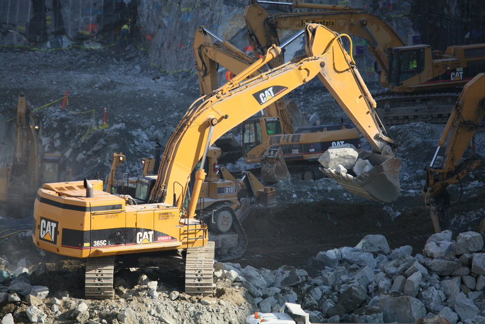 Excavation at the Folsom auxiliary spillway