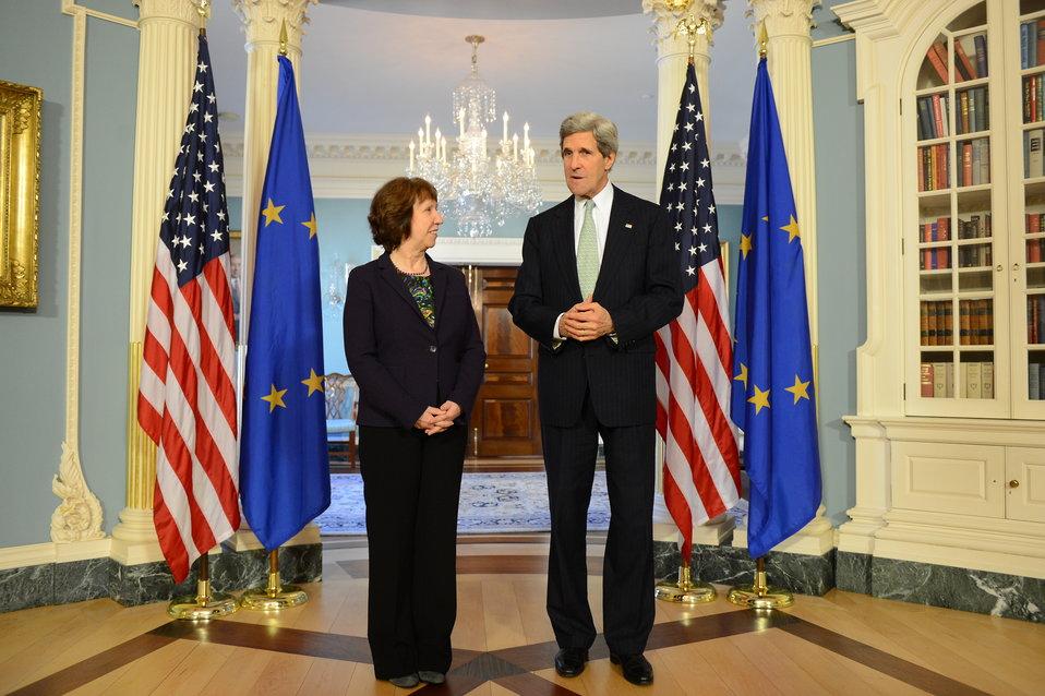Secretary Kerry Meets With EU High Representative Ashton