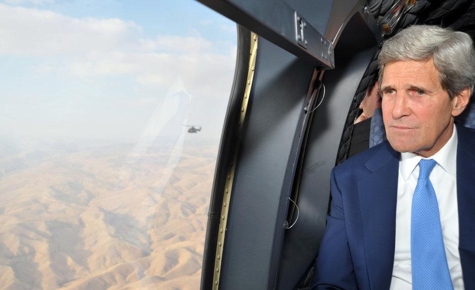 Secretary Kerry Flies From Amman to Ramallah