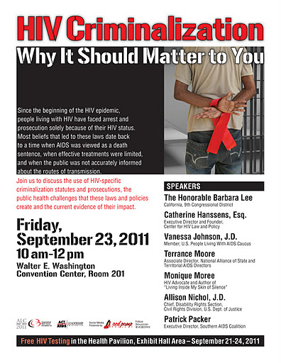 HIV Criminalization panel 9 23 11