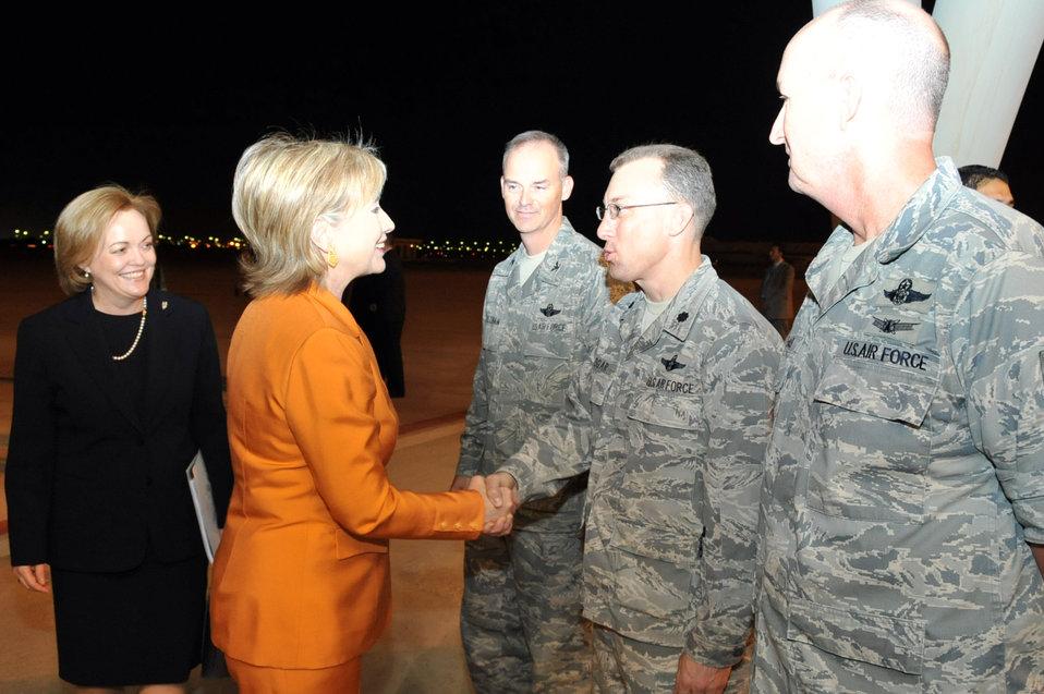 Secretary Clinton Arrives in Kuwait