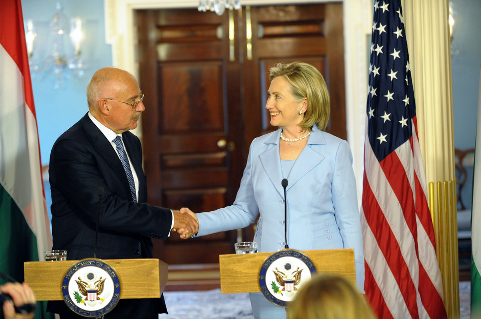 Secretary Clinton Holds Bilateral With Hungarian Foreign Minister Martonyi