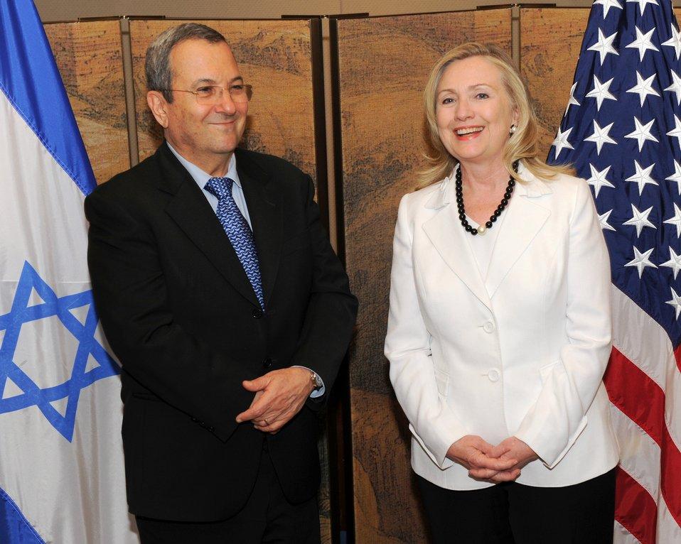 Secretary Clinton Meets With Israeli Defense Minister Barak