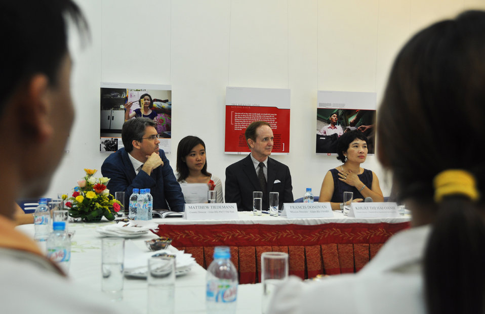 USAID Director Francis Donovan participates in the Face-to-Face with Drugs Book Launch, June 20, 2011