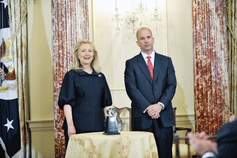 Secretary Clinton Presents the Awards for Corporate Excellence