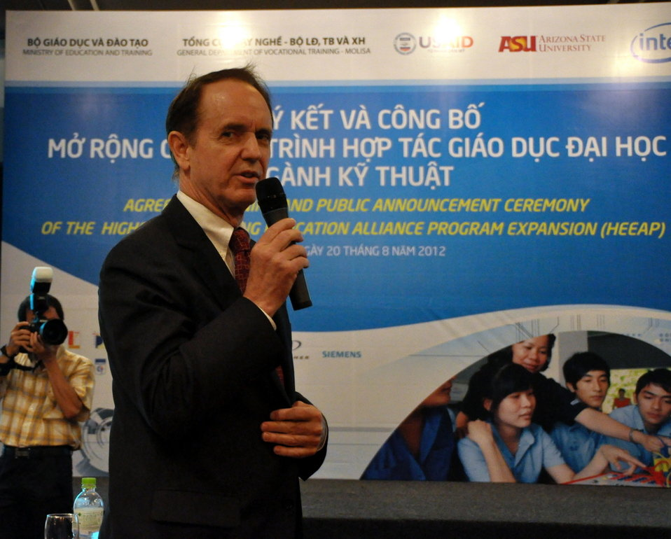 USAID Mission Director Francis Donovan at the Higher Engineering Education Alliance Program Expansion Launch