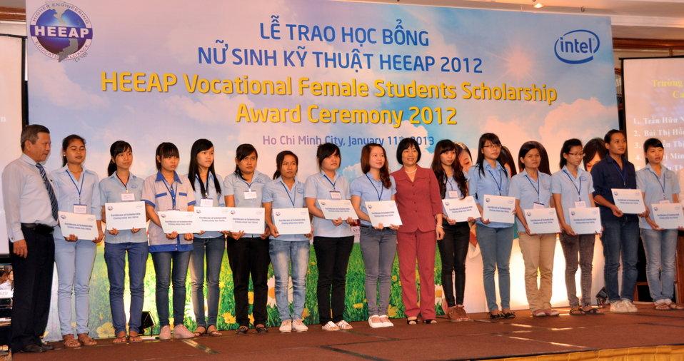 Female Vocational Student Scholarship Recipients