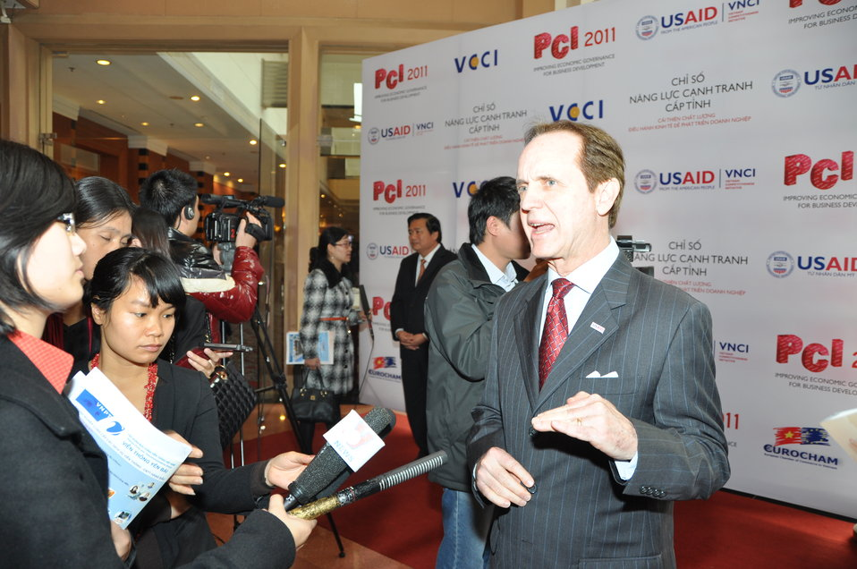 USAID Mission Director Francis Donovan at the Provincial Competitiveness Index 2011 Launch