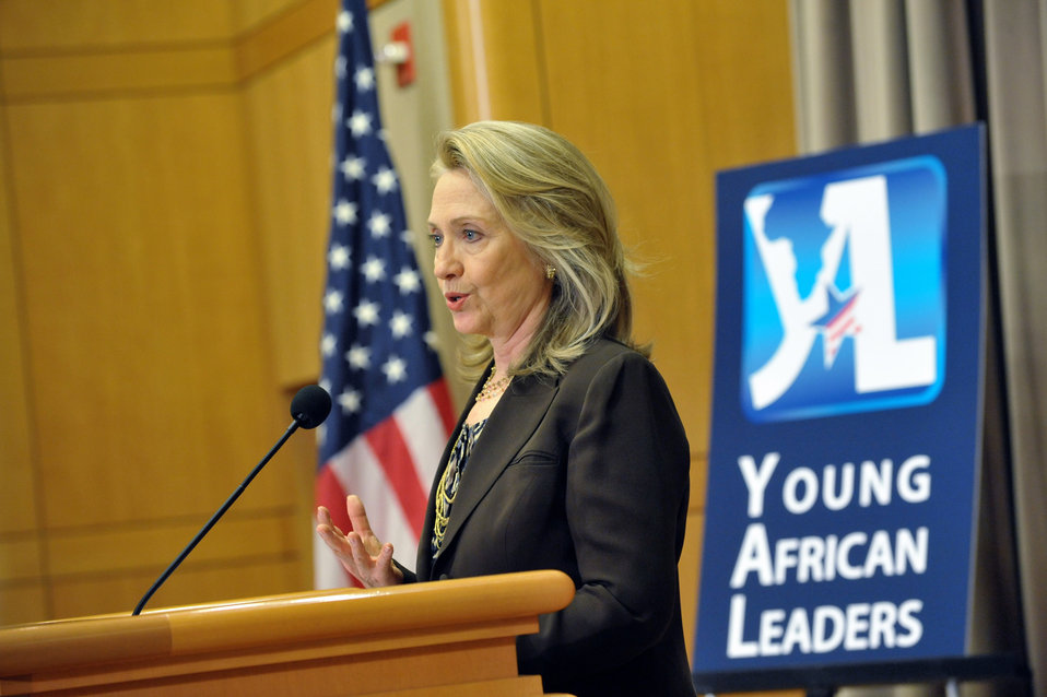 Secretary Clinton Delivers Remarks at the Innovation Summit and Mentoring Partnership with Young African Leaders