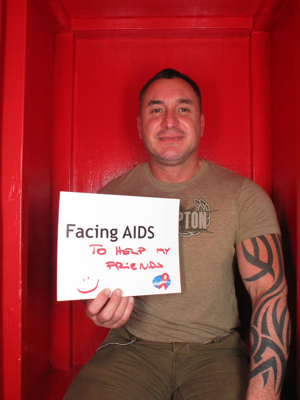 Facing AIDS to help my friends :)