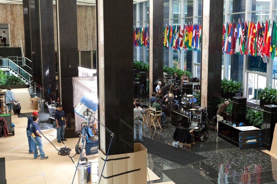 The Crew of 'Argo' Films in the C Street Lobby