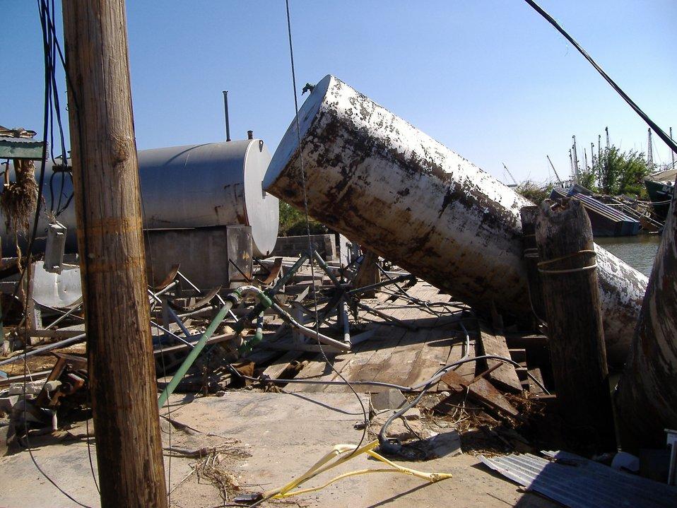 The aftermath of Katrina.