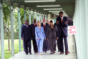 Secretary Clinton Visits Mutombo Hospital