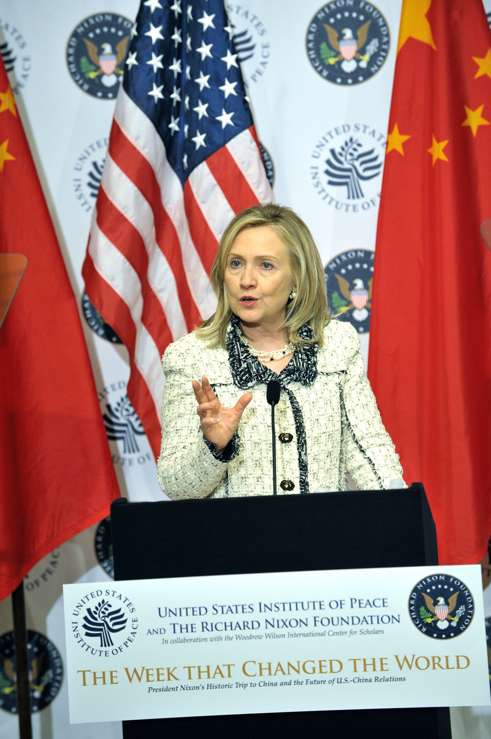 Secretary Clinton Delivers Remarks on U.S.-China Relations