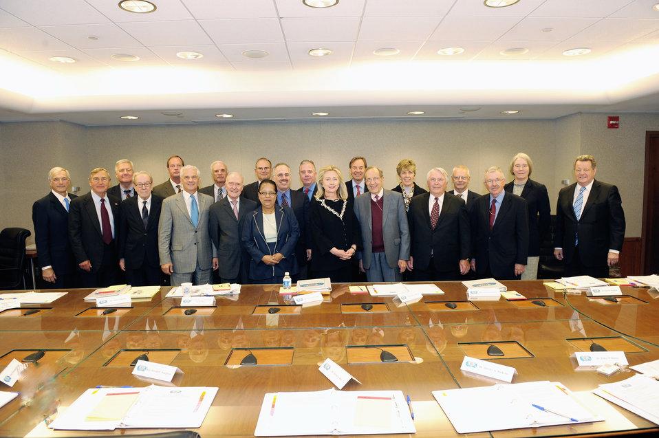 Secretary Clinton Meets With International Security Advisory Board