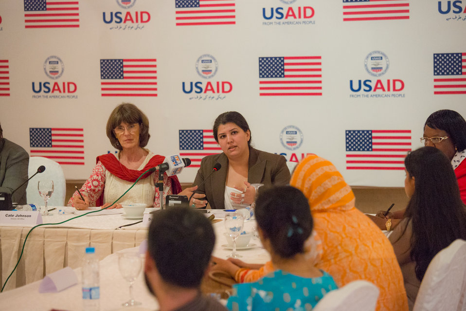 Islamabad, September 6, 2012 - Participants of the US-funded Study Tour on Gender-Based Violence take part in a discussion.
