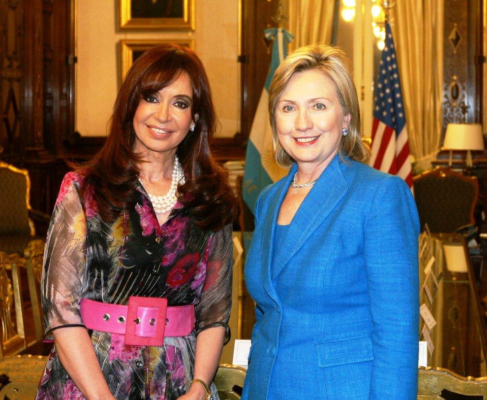 Secretary Clinton With Argentine President Cristina Fernandez de Kirchner