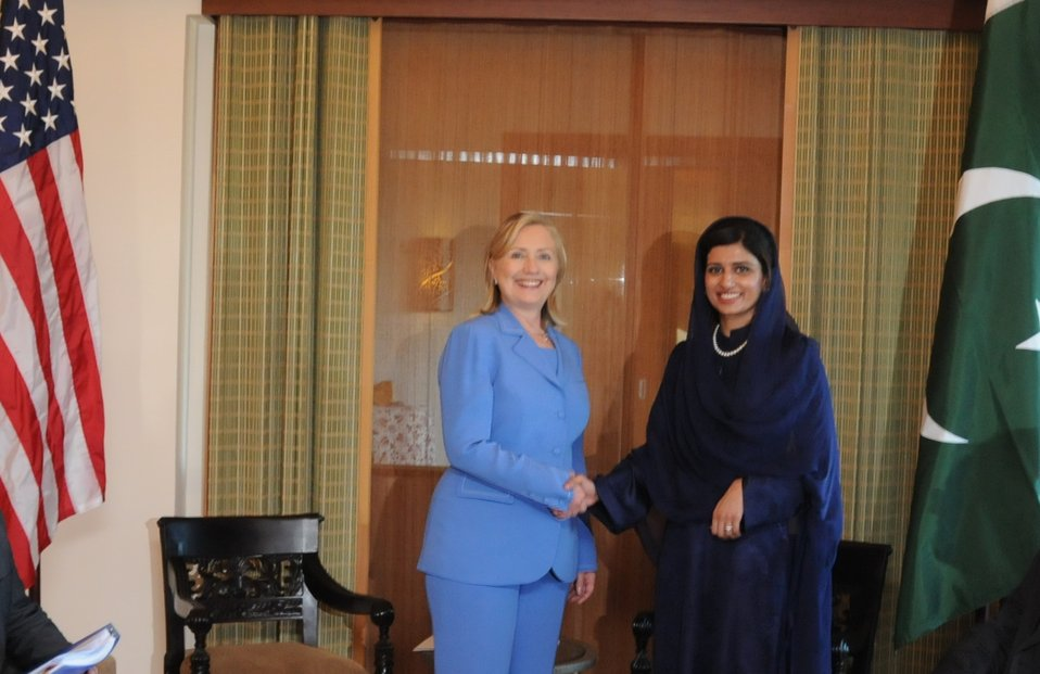 Secretary Clinton Meets With Pakistani Foreign Minister Rabbani Khar