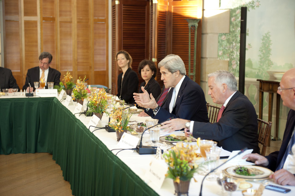 Secretary Kerry Delivers Remarks to Members of Partners for a New Beginning